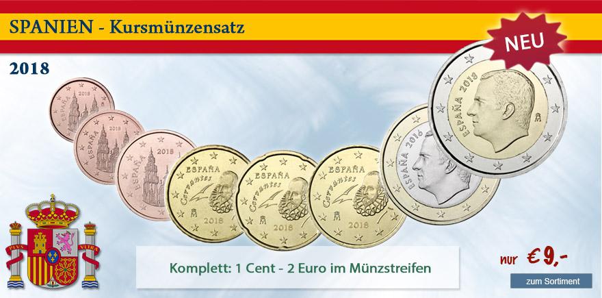 1 2 Euro Münzen aus Spanien von Historia Hamburg bestellen