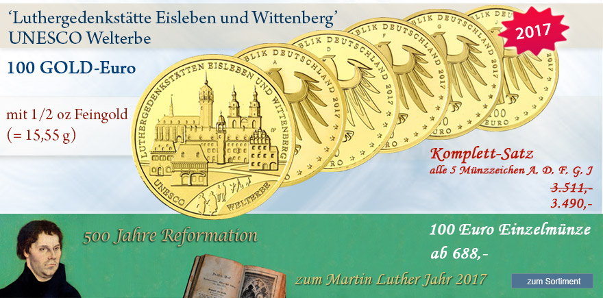 100 Euro Gold münzen Martin Luther