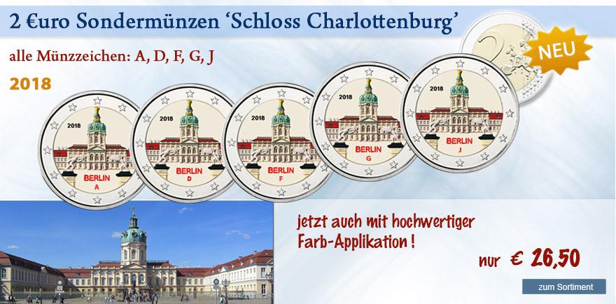 2018 2 Euro Sondermünzen aus Berlin Charlottenburg