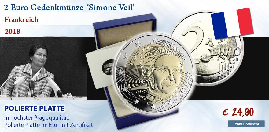 Euro Sondermünzen 2018 aus Frankreich
