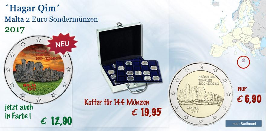 Hagar Qim Malta 2 Euro Gedenkmünzen 2017