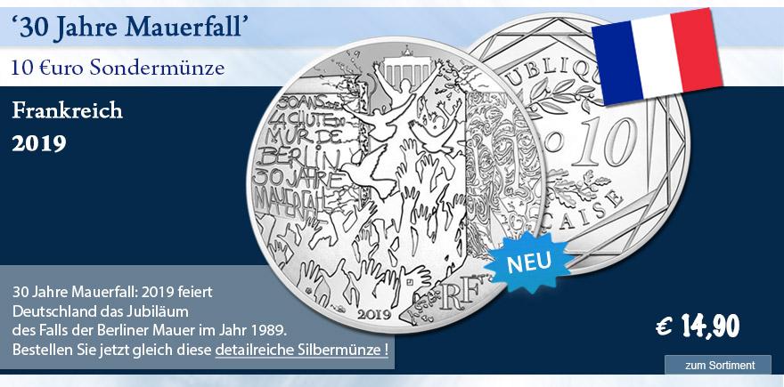 Euro Gedenkmünze 2019 Mauerfall 30 jahre