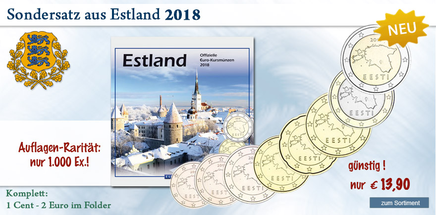 Euro Münzen aus Estland online bestellen