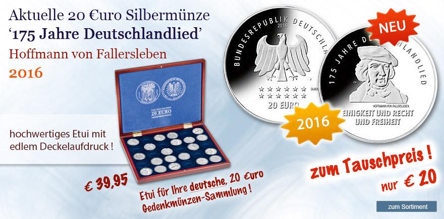 Münzen online bestellen Deutschlandlied