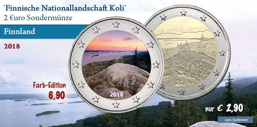 Gedenkmünzen aus Finnland von 2018