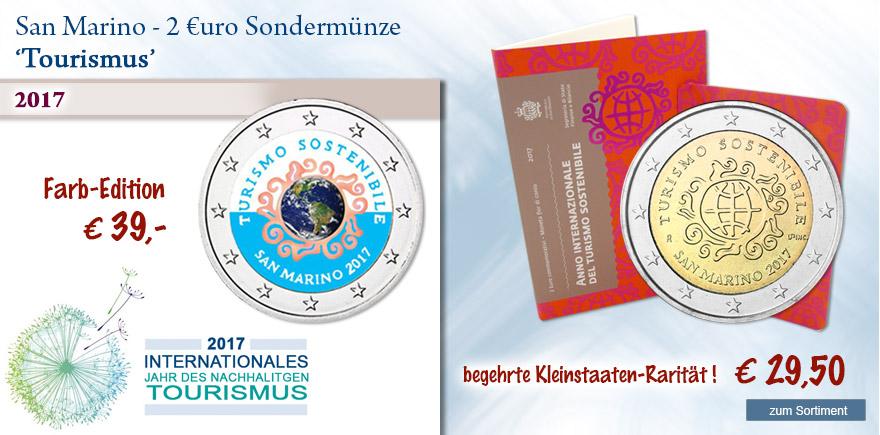 2 Euro Sondermünzen aus San Marino Tourismus