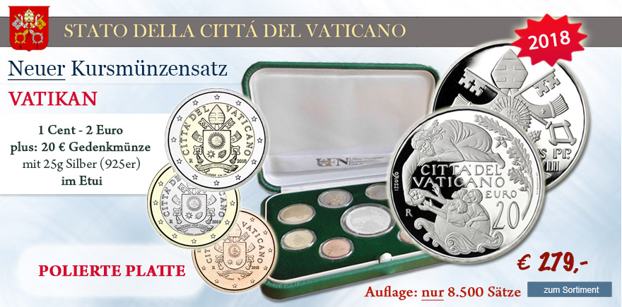 2 Euro Münzen Sondermünzen 2018 Vatikan KMS