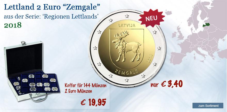 2 Euro Gedenkmünze 2018 Zemgale aus Lettland