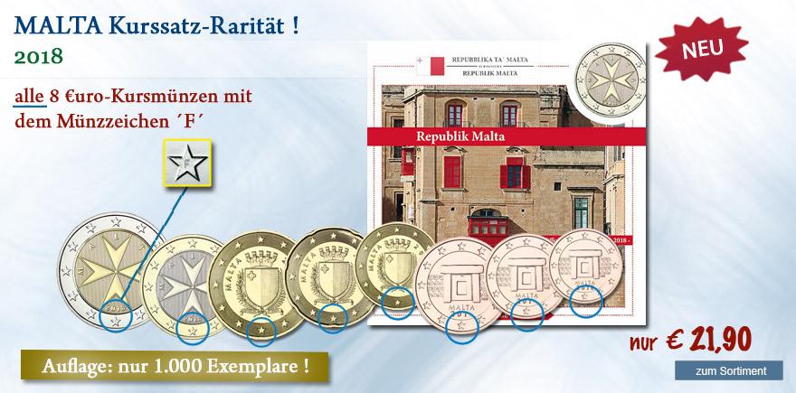 Euro Münzen aus Malta von 2018 online bestellen