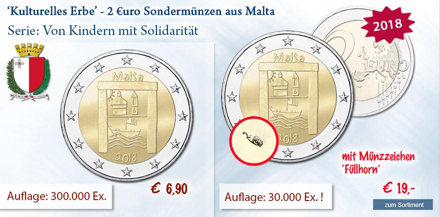 Malta 2 Euro Gedenkmünze Kulturelles Erbe