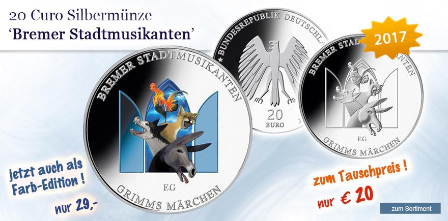 20 Euro Silbermünzen 2017