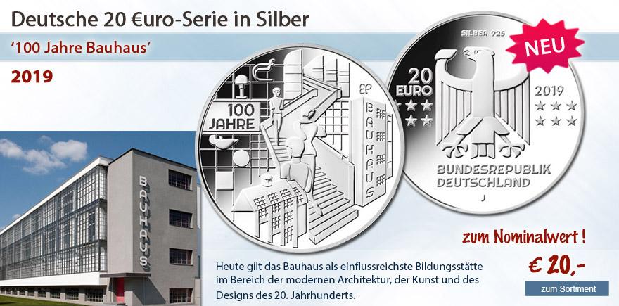 Bauhaus für 20 Euro online bei Historia Hamburg bestellen Münzen