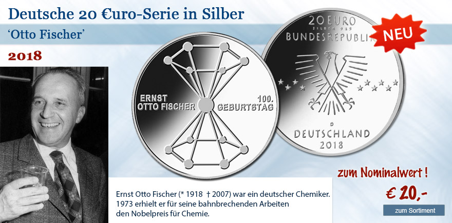 20 Euro Gedenkmünze Otto Fischer von 2018