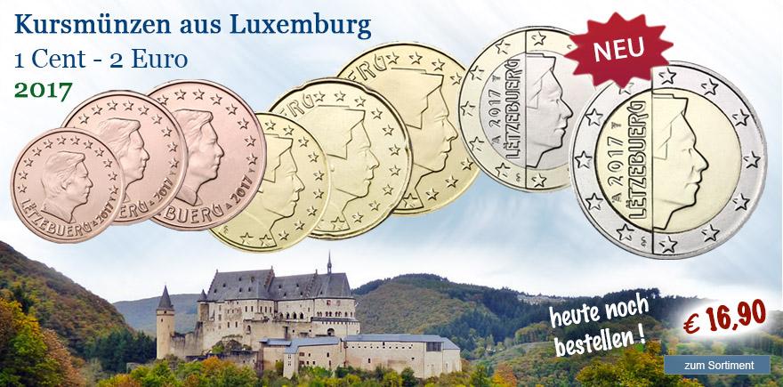 Kusmünzensat aus Luxemburg bestellen