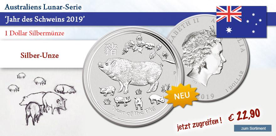 Münzen aus Silber Jahr des Schweins 2019 online bestellen