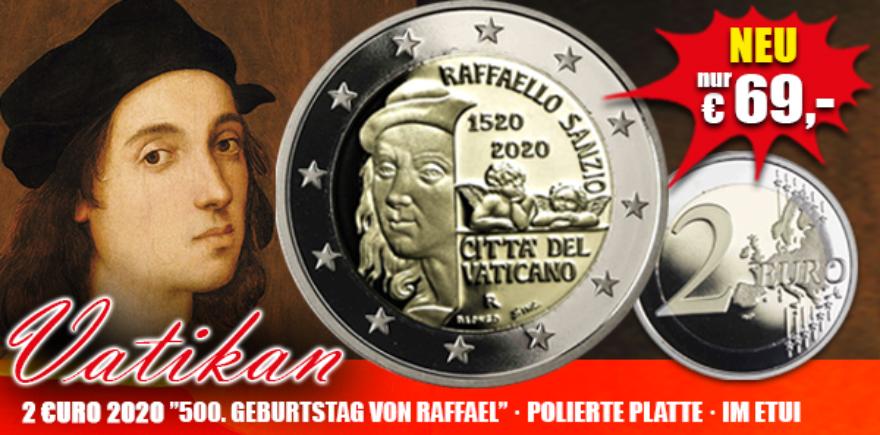 2 Euro Raffael Raffaello
