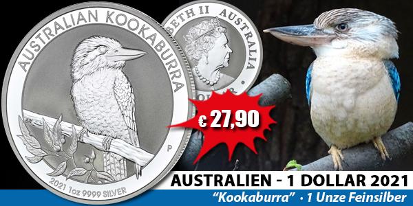 Australien 1 Dollar 2021 Kookaburra