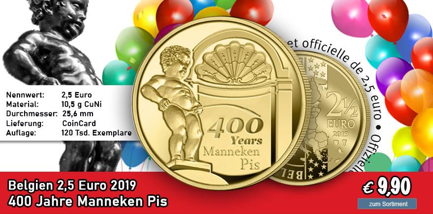 Belgien 2,5 Euro Manneken Pis