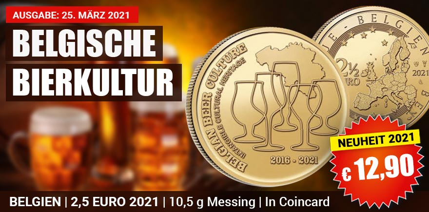 2,5 Euro Belgien Sondermünze