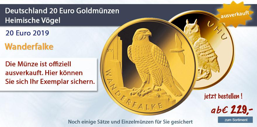 Deutschland 20 Euro 2019 Wanderfalke Goldmuenze