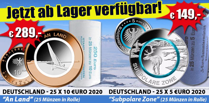 DEUTSCHLAND 5 & 10 EURO 2020
