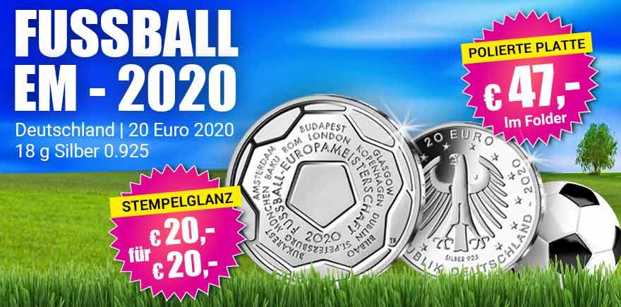 20-Euromünzen Fussball | Historia-hamburg