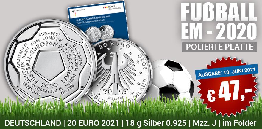 Silbermünze 20-Euro Deutschland 2021 | Historia-hamburg.de