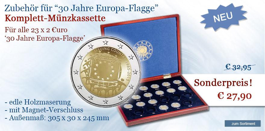 Zubehör 2 Euro Europa Flagge