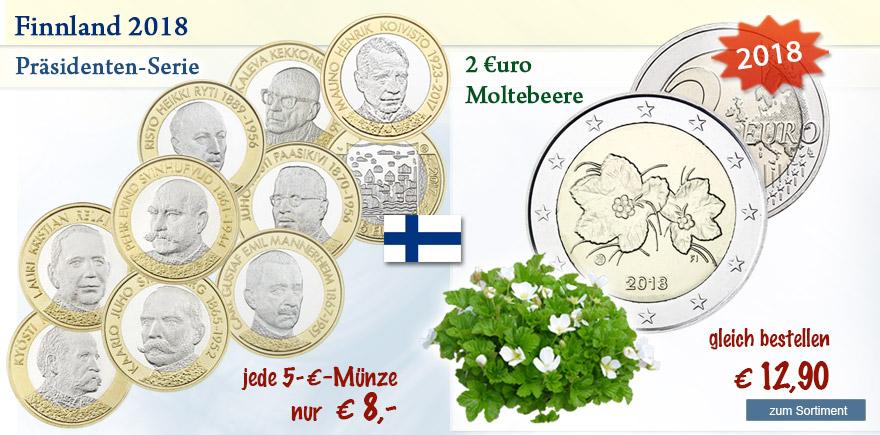 Euro Münzen aus Finnland online bestellen