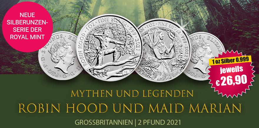 1 Oz Silbermünze Robin Hood