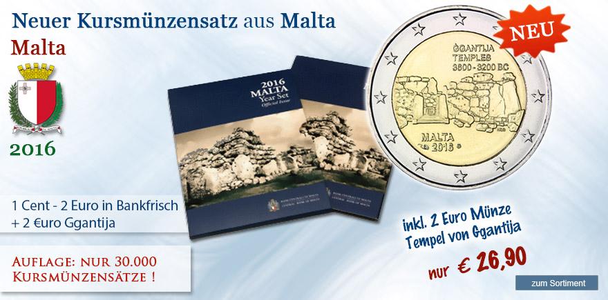 Ggantija Euro Kursmünzensatz 2016 bestellen