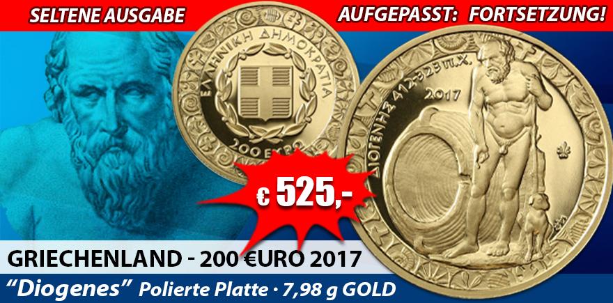 Griechenland 200 Euro 2017 Diogenes