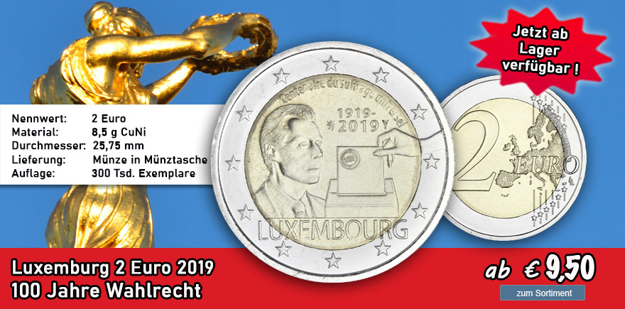 Luxemburg 2 Euro 2019 Wahlrecht