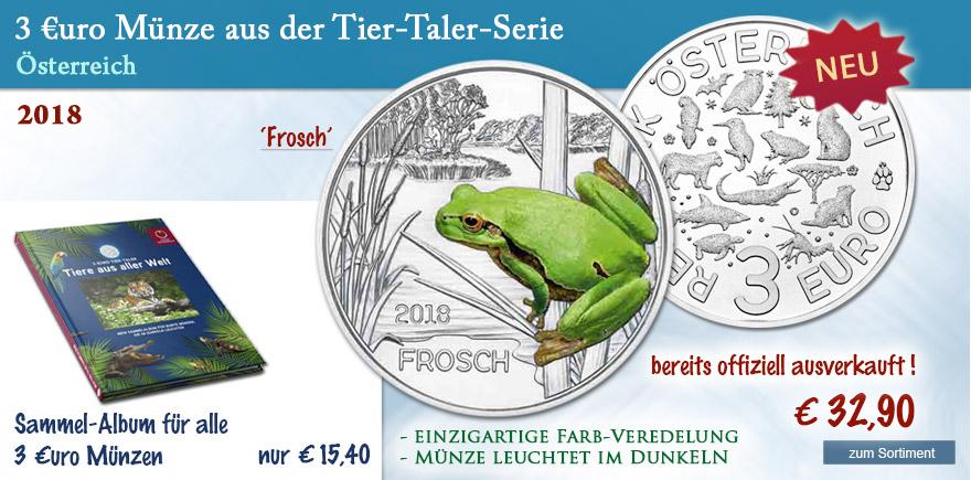 3 Münze Österreich Frosch online bestellen