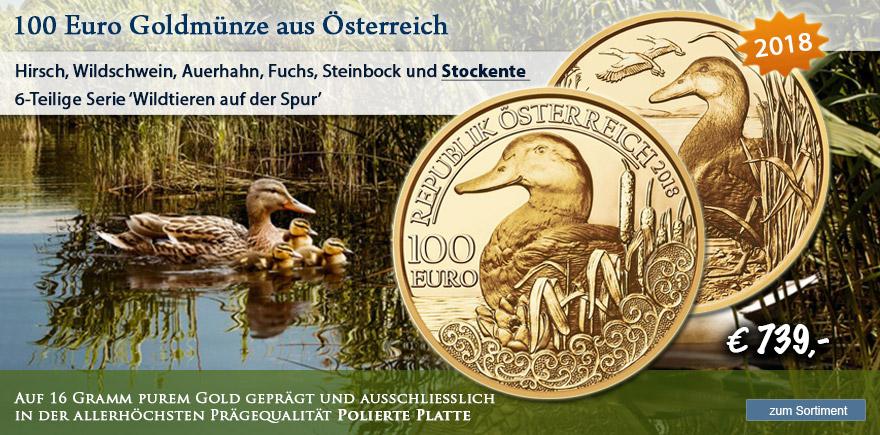Münze Österreich Stockente von 2018 online bestellen