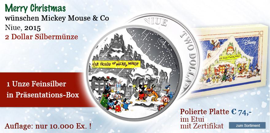 Weihnachts Geschenk Münzen Mickey Dollar