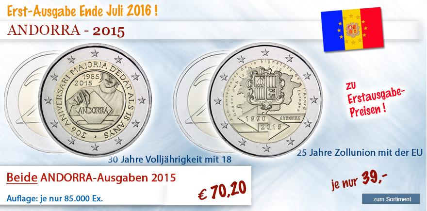 2 Euro Sondermünzen Andorra