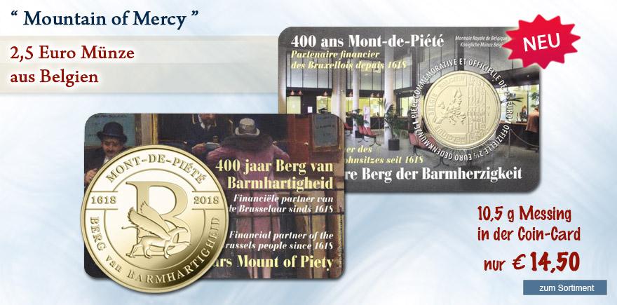 2,5 Euro Münze Berg der Barmherzigkeit