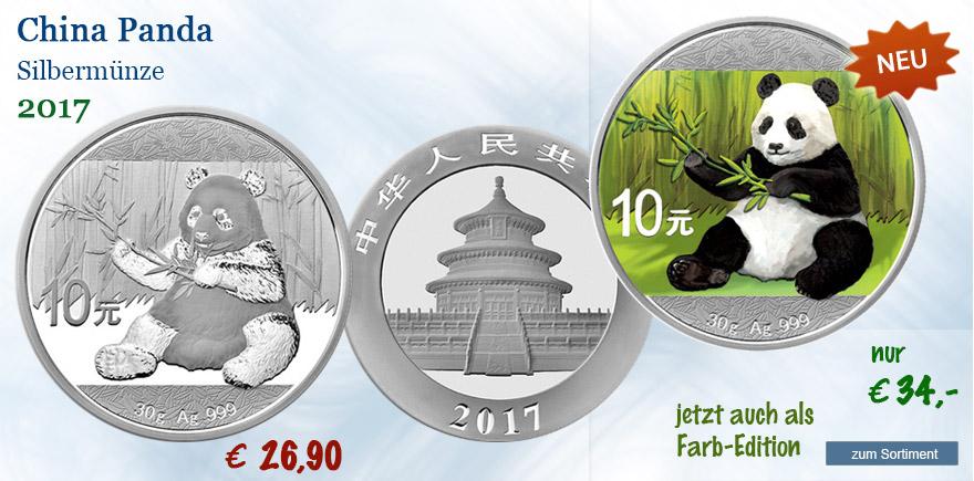 2017 Silbermünzen Panda aus China