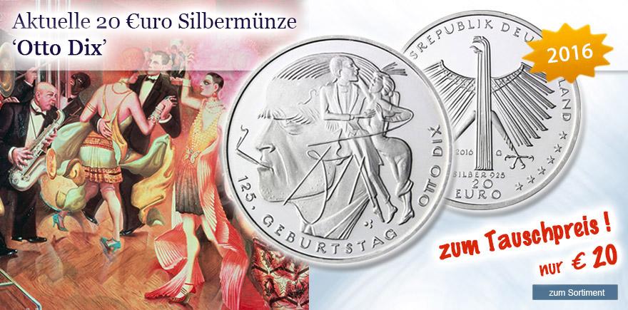 20 Euro Sondermünze Otto Dix
