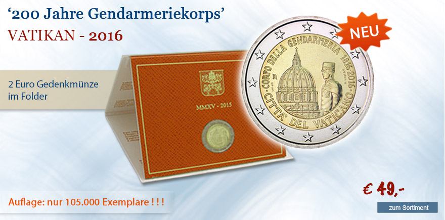 2 Euro Sondermünze aus dem Vatikan