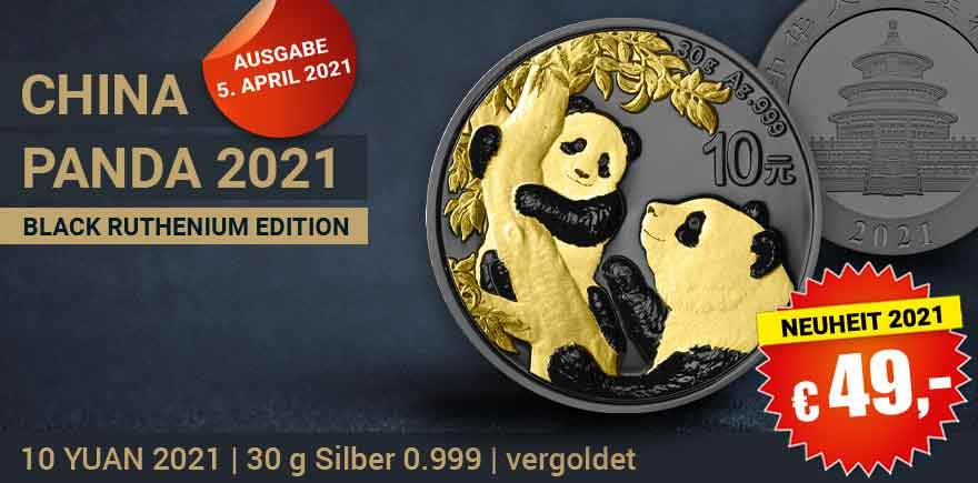 Panda Silbermünzen Farbe