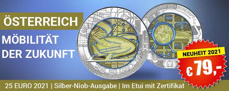 25 Euro Niobmünzen