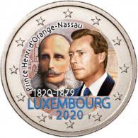 Luxemburg 2 Euro 2020 Henri von Oranien-Nassau in Farbe