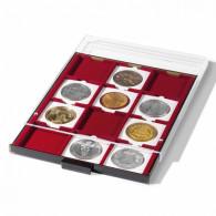 343230 -  Münzbox MB für Münzkapseln Quadrum rauchfarben