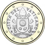 1 Euro Münzen aus dem Vatikan mit dem Papstsiegel  von Franziskus 2018