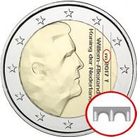 Münze aus den Niederlanden mit neuem Münzzeichen Brücke 2017