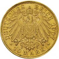10 Mark Kaiserreich Goldmünze aus der Freien Hansestadt Bremen 1907 Jäger 204