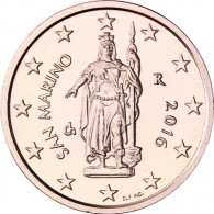 San Marino 2 Cent 2016 bfr.Freiheitsstatue von Stefano Galletti