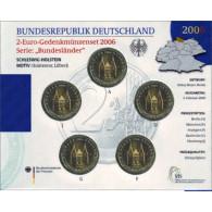 Deutschland 5 x 2 Euro 2006 Stgl.  Holstentor im Folder der VfS